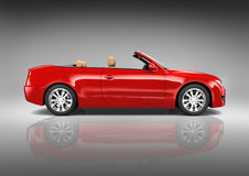 Three Dimensional Contemporary Red Sedan Convertible Royalty Free Stock Photo