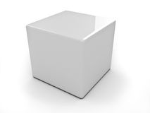 Three-dimensional cube  Stock Images