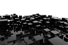 Three-dimensional cube Stock Image