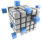 Three-dimensional cube Royalty Free Stock Photo