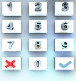 Three dimensional dial numbers panel Stock Photography