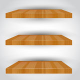 Three-dimensional  empty shelf. Royalty Free Stock Photography