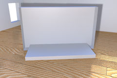 Three dimensional empty stage on a room Stock Photo