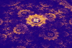 Three-dimensional floral fractal on dark Royalty Free Stock Photography