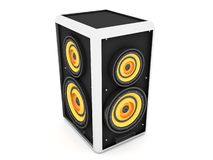 Three dimensional front view of sound box Stock Images