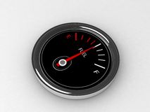 Three dimensional  fuel  gauge Royalty Free Stock Image