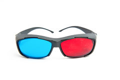 Three-dimensional glasses. On a white background Royalty Free Stock Photography