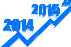 Year graph Stock Images