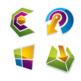 Three-dimensional graphic elements collection with arrows, busin. Ess development and technology innovation theme vector icons. Company growth concept, set of 3d royalty free illustration