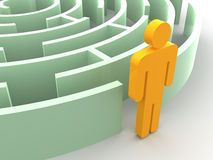 Three-dimensional graphic image. Labyrinth. Stock Image