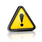 Three-dimensional Hazard warning attention sign Royalty Free Stock Photos