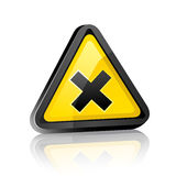 Three-dimensional Hazard warning sign Royalty Free Stock Photography