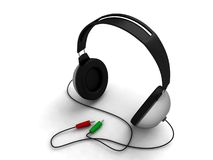 Three Dimensional Headphone Stock Images