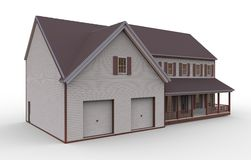 Three-Dimensional House. 3d house  on a white background Stock Images
