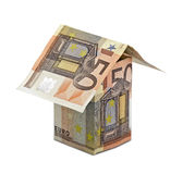 Three-dimensional house of euros Royalty Free Stock Images