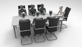 Three dimensional human business meeting. Stock Photography