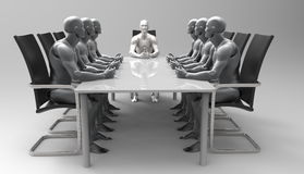 Three dimensional human business meeting. royalty free illustration