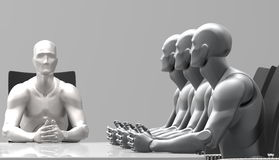 Three dimensional human business meeting. Royalty Free Stock Photography