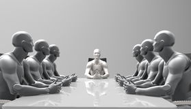 Three dimensional human business meeting. Royalty Free Stock Images