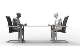 Three dimensional human deal. Royalty Free Stock Photo