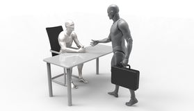 Three dimensional human deal. Royalty Free Stock Image