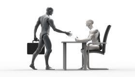 Three dimensional human deal. Stock Photo