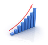 Chart Rise Stock Photo
