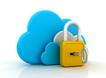 Cloud Security royalty free illustration