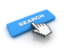 Cursor Hand over Search Royalty Free Stock Photo