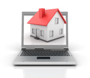 Laptop and Home Stock Photos