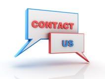 Contact Us Speech Bubbles Stock Photo