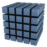 The three-dimensional image of a set of cubes Stock Photo