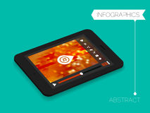 Three dimensional isometric media player application concept Royalty Free Stock Photo