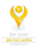 Three dimensional logo Royalty Free Stock Photo