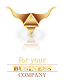 Three dimensional logo stock photo