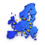Three-dimensional map of Europe. royalty free stock photos