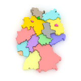 Three-dimensional map of Germany. Royalty Free Stock Image
