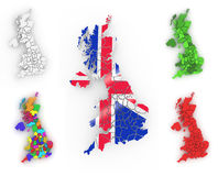 Three-dimensional map of Great Britain Royalty Free Stock Photography