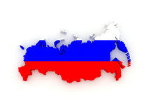 Three-dimensional map of Russia. Stock Photography