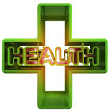 Three dimensional medical cross advertising banner Royalty Free Stock Photos