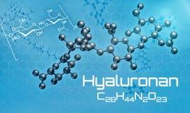 Three-dimensional molecular model of Hyaluronan. 3d render Stock Photography
