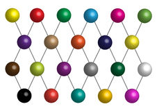 Three dimensional molecule model Stock Images