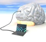Three-dimensional, notebook, brain, Royalty Free Stock Photo