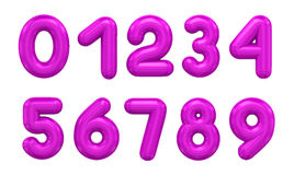 Three-dimensional number in green. 3d rendering number on a white background Stock Photography