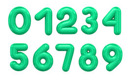 Three-dimensional number in green Royalty Free Stock Image