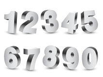 Three-dimensional Numbers Royalty Free Stock Photos