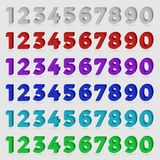 Three-dimensional numbers. Royalty Free Stock Images