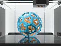 Three-dimensional printing machine Royalty Free Stock Images