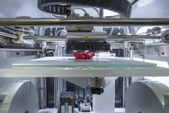 Three dimensional printing machine. Three dimensional automated printing machine working Stock Photo