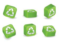 Three-Dimensional Recycling Blocks Stock Photo